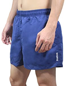 Reebok Mens High Performance Athletic Sports Shorts with Brief Lining 2XL Blue