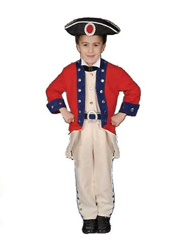 Deluxe Historical Colonial Soldier Costume Set