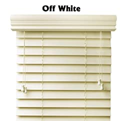 Premium 2 inch faux wood blinds, Off White, 8 1/2 X 73 ,Free Shipping, 9 inch width if plus the mounting hardware