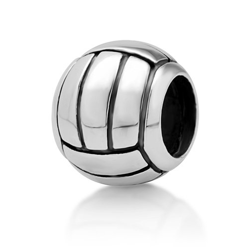 Product Name: Sterling Silver Volleyball Bead Charm Fits Pandora ...