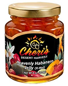 Cheris Heavenly Habanero Jelly - 8 Oz - Cacti Jam - Southwest Desert Spread- Southwestern Flavor