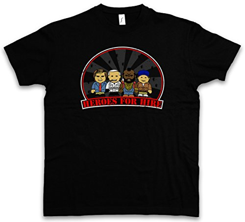 HEROES FOR HIRE T-SHIRT - The Agence A-Team Hannibal Cartoon Toon tous risques A BA Mr. T Team TV Series Van Taglie S - 5XL