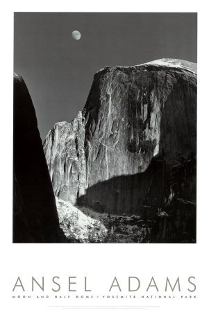 Moon-and-Half-Dome-Yosemite-National-Park-1960-Art-Poster-Print-by-Ansel-Adams-24x36-Art-Poster-Print-by-Ansel-Adams-24x36
