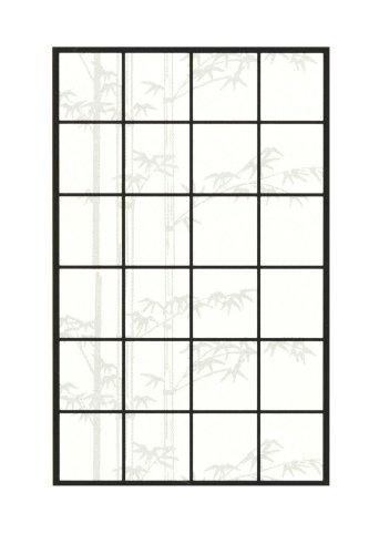 アサヒペン アイロン障子紙 明るいアイロン貼り障子紙 華竹 94cm×3.6m