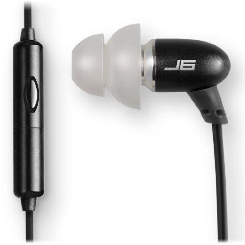 JBuds J6M High Fidelity Ergonomic Earbuds Style Headphones with Mic (Nero Black)