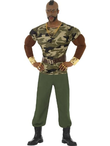 Smiffy's Mr T Premium Costume with Jumpsuit. Available in 3 sizes. Officially Licensed