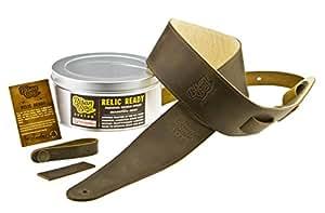 Bison Boa Custom RELIC READY - Premium Full Grain Leather Guitar Strap Set - Handmade in the U.K.