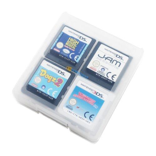 Decrescent Boîte de Rangement pour 16 Jeux Nintendo 3DS, 2DS, DSi, DS Lite & Original DS – Transparent