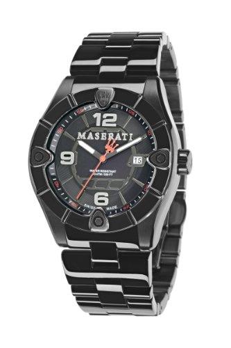 Reloj Maserati 45 mm acero color negro