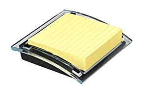 Post-it Note Pad Holder for 4 x 4-Inch Notes, Includes 1 Pad of Lined Canary Yellow Notes