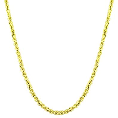 Yellow Gold Rope Chains For Women