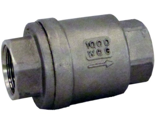 Duda Energy VCV-WOG1000-F050 Vertical Check Valve, 304 Stainless Steel, 1/2