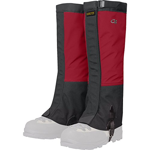 Outdoor Research Men's Crocodile Gaiters, Chili/Black,