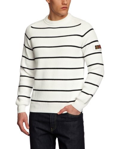 Henri Lloyd Barewood Crew Knit Men's Jumper Surf/Navy Medium