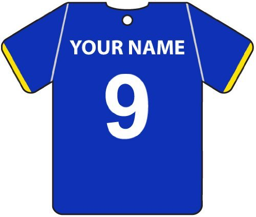 PERSONALISED EVERTON FOOTBALL SHIRT CAR AIR FRESHENER