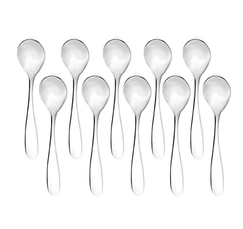 Bekith Demitasse Espresso Mini Stainless Steel Bistro Spoons, Set of 12