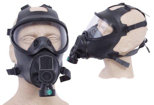 Belg. Gasmaske schwarz ohne Filter Maske ABC-Ausrüstung