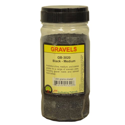 JTT Scenery Products Ballast and Gravel, Black, Medium