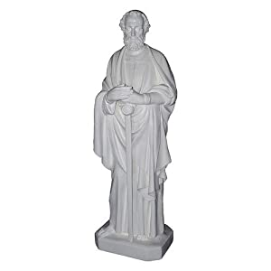 Amedeo Design 1100-104IPW Saint Paul Statue, 18 by 64 by 21-Inch, White