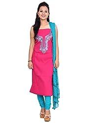 Chhipa 100% cotton Pink salwar suit dupptta material