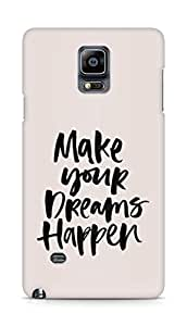 AMEZ make your dreams happen Back Cover For Samsung Galaxy Note 4