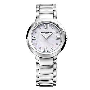 New Ladies Promesse Silver Diamond Dial Quartz 30mm Elegant Watch MOA10158