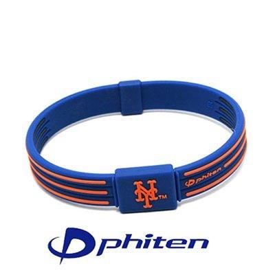 Phiten Titanium New York 'Mets' Mlb Team Bracelet 7.5