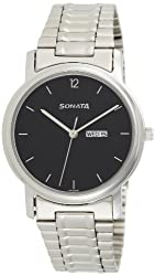 Sonata Analog Black Dial Mens Watch - NC1013SM04