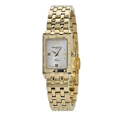 Raymond Weil Women's 5971-P-00915 Tango Rectangular Case Gold Tone Watch