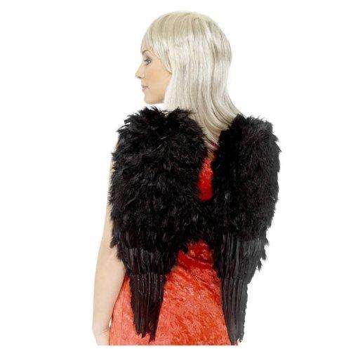 Imagen de Smiffys de Halloween alas con plumas Negro para adultos