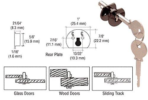 C.R. Laurence D802Du Crl Dark Bronze Randomly Keyed Universal Plunger Lock front-781888