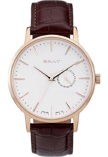 GANT W10846 - Reloj analógico de cuarzo para hombre, correa de cuero color marrón