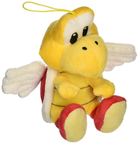 "Global Holdings Super Mario 6"" Plush, Koopa Paratroopa (Red Shell) - 1"