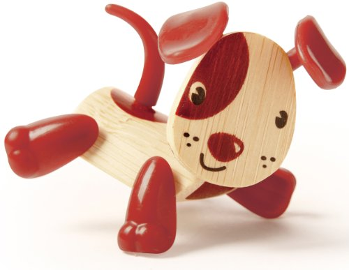 Hape Mini-mals Dog Bamboo Play Figure - 1