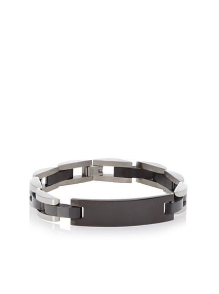 BlackJack Black-Plated ID Bracelet