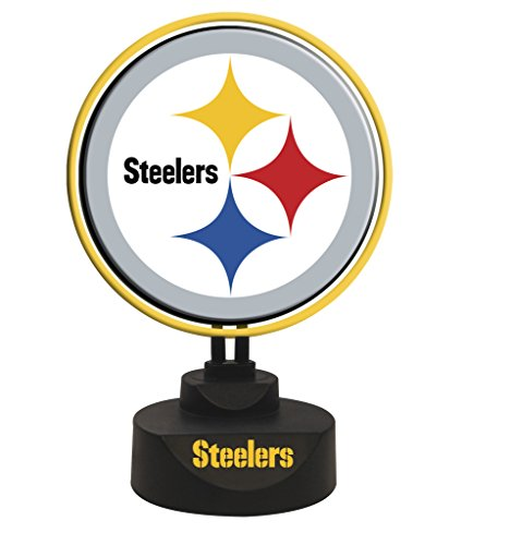 Pittsburgh Steelers Team Logo Neon Lights by The Memory Company