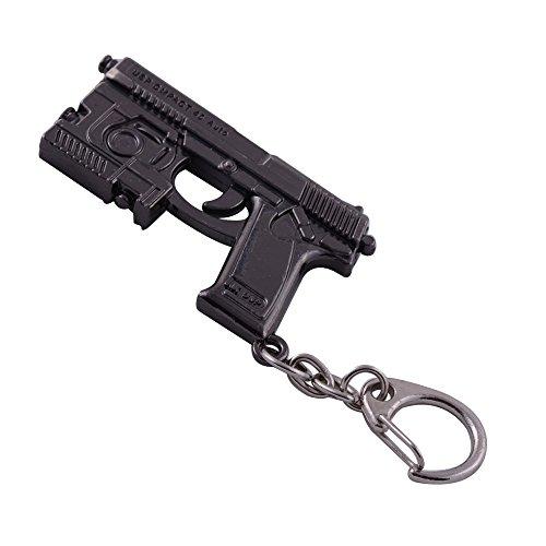 Mallofusa Miniature Gray Metal Mk.23 Assault Rifle Gun Model Keychain Bag Kye ring Pendant