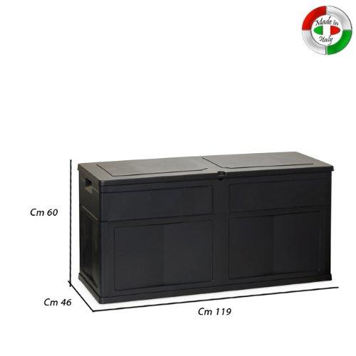 Baule multiuso cassapanca in resina per esterno ed interno for Cassapanca esterno