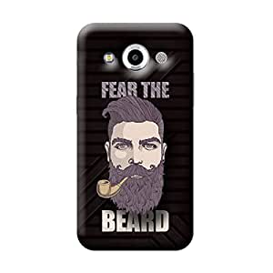 Garmor Fear The Beard Design Plastic Back Cover For Samsung Galaxy Core Max