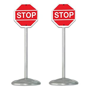 #!Cheap Department 56 Village Stop Signs, Set of 2