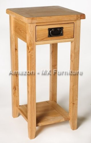 Solid Oak telephone / Lamp / Bedside table