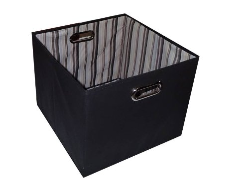 Alexi Ricci Black 11Hx11Wx11D Folding Storage Bin Orginization with Style