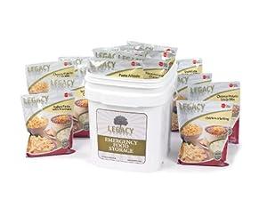 Emergency Survival Food Storage - 60 Large Servings: 16 Lbs - Freeze Dried Prepper... by Legacy Premium Food Storage