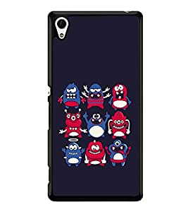 Monster Icons Back Case Cover for SONY XPERIA Z4