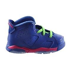 Buy Jordan 6 Retro (BT) Baby Toddlers Basketball Shoes Gym Royal White-Vivid Pink-Light... by Jordan
