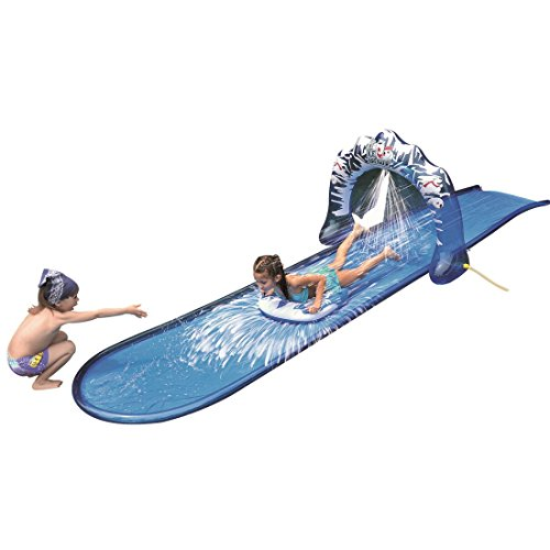 Cheapest Prices! Slip and Slide Waterslide - Icebreaker Water Slide with Racing Raft and Water Spray...