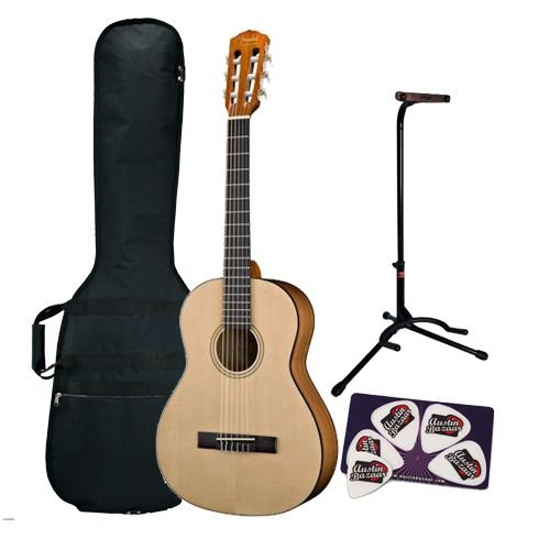 lowest price fender esc 105 full size classical guitar bundle with gig bag guitar stand and. Black Bedroom Furniture Sets. Home Design Ideas
