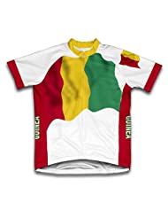 Guinea Flag Short Sleeve Cycling Jersey for Women