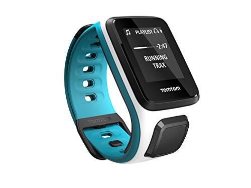 TomTom Runner 2 Cardio + Music - Montre GPS - Bracelet Fin Blanc / Turquoise (ref 1RFM.001.03)