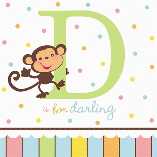 FisherPrice ABC Dessert Napkins 16 Pack
